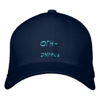 Amateur Radio QTH locator Hat embroideredhat
