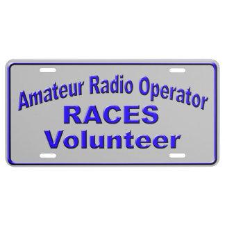 Amateur Radio RACES Volunteer License Plate