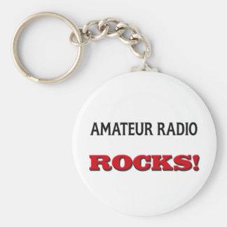 Amateur Radio Rocks Basic Round Button Keychain