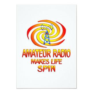 Amateur Radio Spins Card