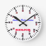 Amateur Radio Station Clock at Zazzle