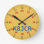 Amateur Radio station clock attractive functional at Zazzle