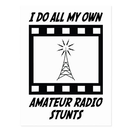 Amateur Radio Stunts Postcard