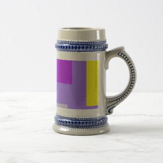 Amatista colorida simplista del diseño taza