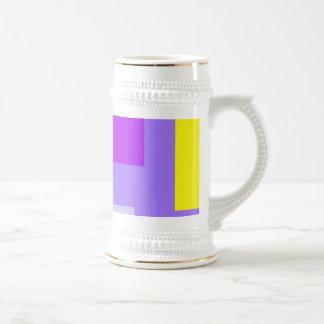 Amatista colorida simplista del diseño taza de café
