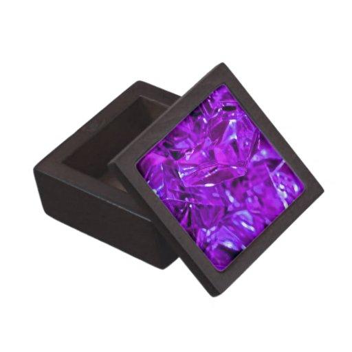 Amatista cristalina de la piedra preciosa púrpura cajas de regalo de calidad