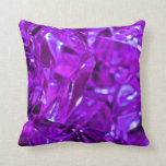 Amatista cristalina de la piedra preciosa púrpura almohadas