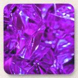 Amatista cristalina de la piedra preciosa púrpura posavasos
