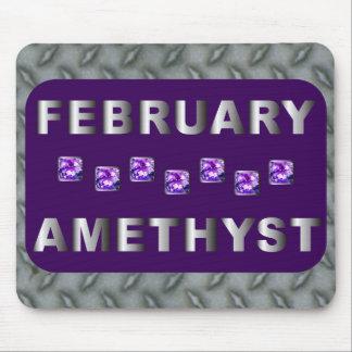 Amatista de febrero mousepads