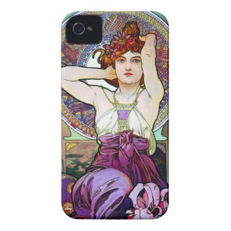 Amatista de Mucha iPhone 4 Case-Mate Protectores