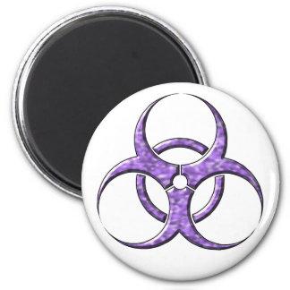 Amatista del símbolo del Biohazard Imán Redondo 5 Cm