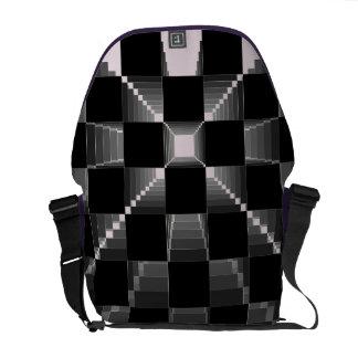Amatista doble de la púrpura 500 a cuadros de la b bolsas de mensajería