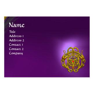 Amatista púrpura de los DRAGONES GEMELOS Tarjetas De Visita Grandes