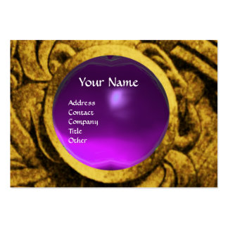 Amatista púrpura del oro del MONOGRAMA de GRYPHONS Tarjetas De Visita Grandes