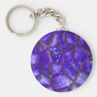 Amatista púrpura llaveros personalizados