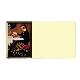 Amatller Chocolat Woman Custom Shipping Label