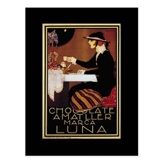 Amatller Chocolat Woman Post Card