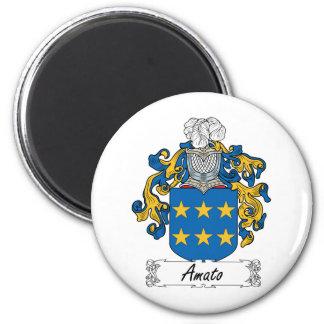 Amato Family Crest 2 Inch Round Magnet
