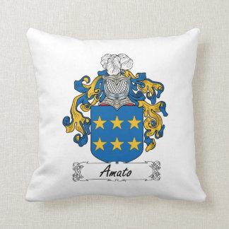 Amato Family Crest Throw Pillows