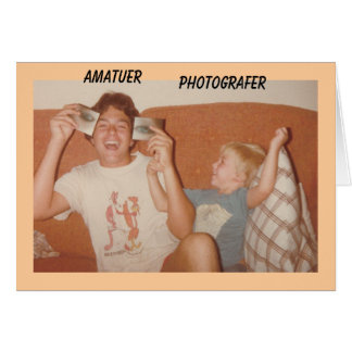 Amatuer , Photografer Card