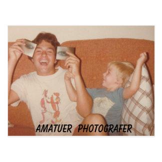 Amatuer  Photografer Postcard