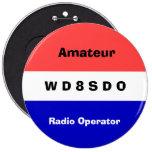 Amatuer Radio Operator Badge Pinback Button at Zazzle