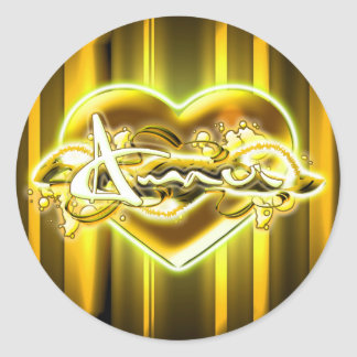 Amaui Classic Round Sticker