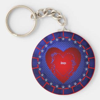 Amaya Basic Round Button Keychain