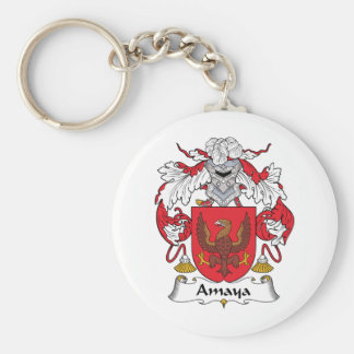 Amaya Family Crest Basic Round Button Keychain