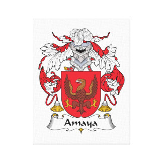 Amaya Family Crest Canvas Print