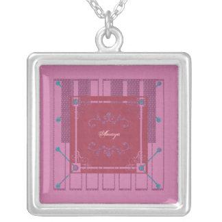 Amaya Square Pendant Necklace