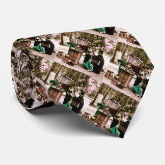 Amazake Merchant in Old Japan Vintage Japanese Tie