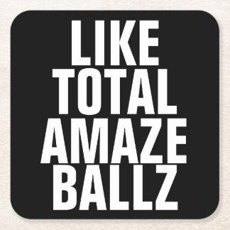 Amaze Ballz Square Paper Coaster