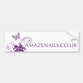 Amaze Nails Bumper Sticker Car Bumper Sticker