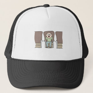 Amazed movie watcher trucker hat