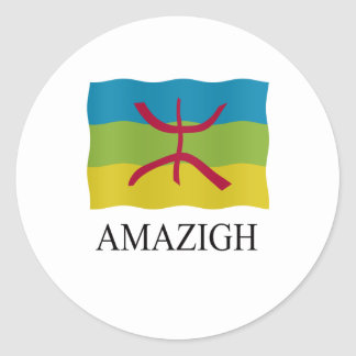 Amazigh Flag Classic Round Sticker