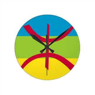 Amazigh Flag Round Clock