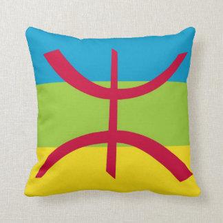 Amazigh Flag Throw Pillow