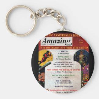 Amazing - 1961.04_Pulp Art Basic Round Button Keychain