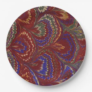 Amazing 19th Century Marbling pattern on plate