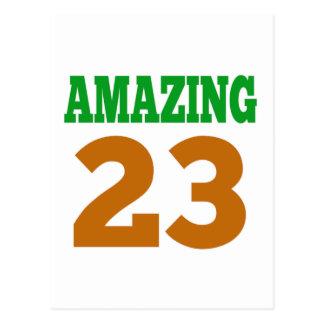 Amazing 23 postcard