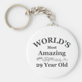 Amazing 29 year old basic round button keychain