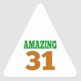 Amazing 31 triangle sticker