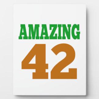 Amazing 42 photo plaque
