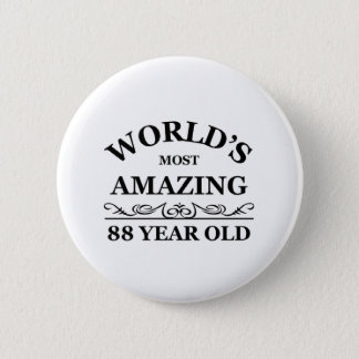 Amazing 88 year old pinback button