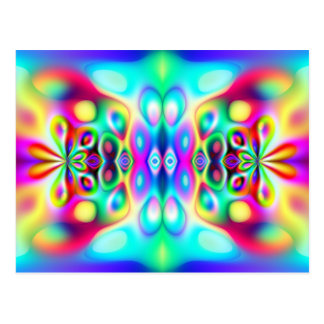 Amazing Abstract Colors Postcard