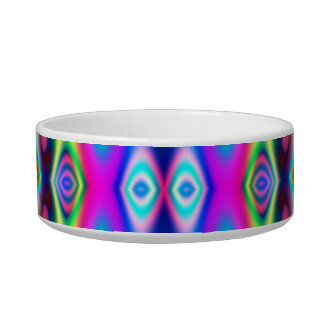 Amazing Abstract Colors Psychedelic Art Cat Bowls