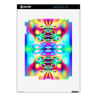 Amazing Abstract Colors Psychedelic Art Decal For The iPad 2