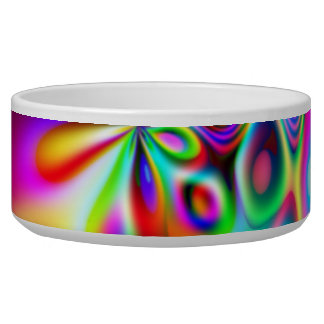 Amazing Abstract Colors Psychedelic Art Pet Water Bowls