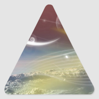 Amazing Abstract Design Triangle Sticker